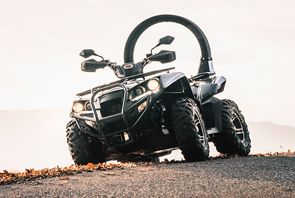 Eliminator Electric Quad Bike in the woods